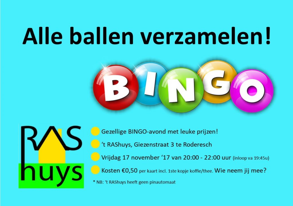 Bingo-avond 17/11/17
